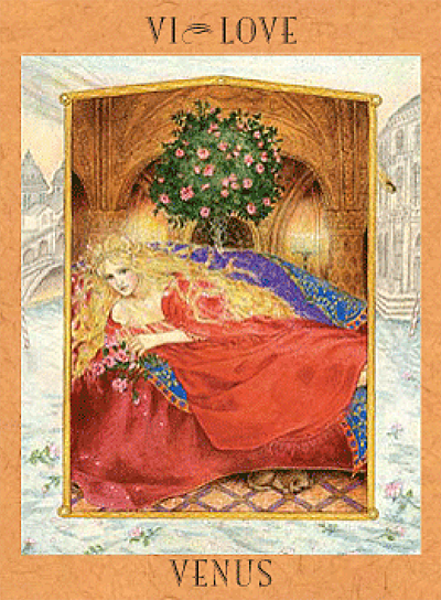 The Venus Card from the Goddess Tarot by Kris Waldherr